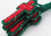 send 4 handcrafted red and green Christmas cross ornaments to your US address small2