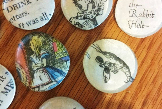 make 5 storybook glass magnets