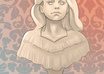illustrate you as a creepy, Victorian style bust statue small2