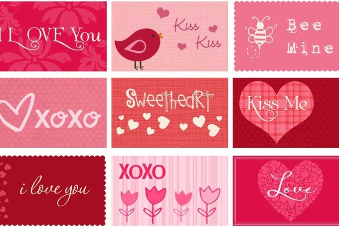 make a valentine card,give your logo ,header a valentine touch