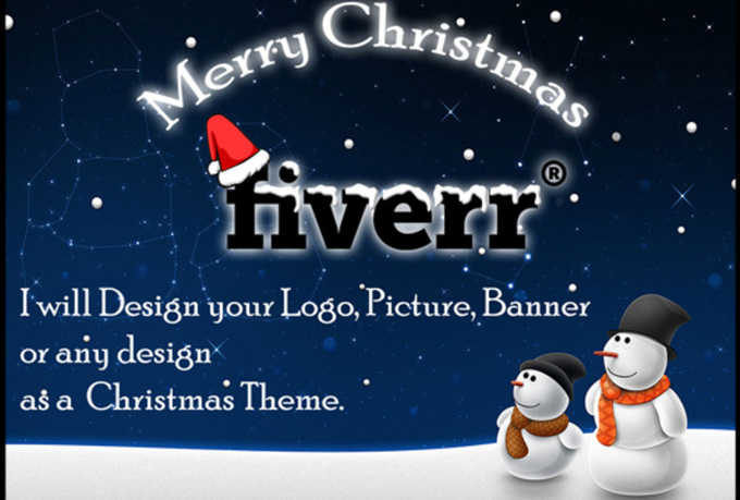 design your Logo,Picture,Banner or anything as Christmas Theme