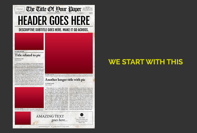 Make newspaper design for you fiverr for Create your own newspaper template