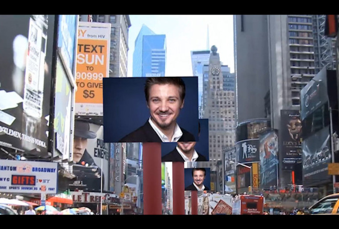 create a video ADVERTISING your text or logo in Times Square New York