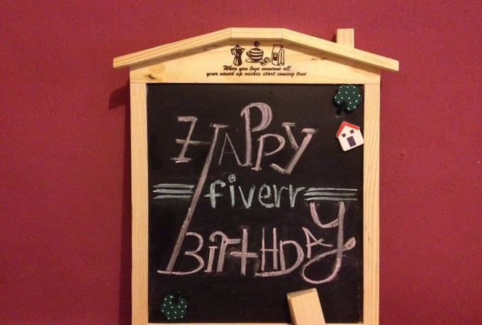 make an old style video promoting your message on a chalkboard in a unique way