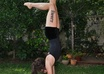 do an acrobatic pose to promote your logo\business small3