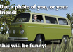 make a movie with your face, your text and custom VW van small3