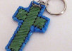 send 1 handcrafted plarn cross key chain to your US address small3