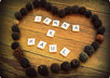 write anything you want in scrabble letters and decorate it with tree seeds Rustic Style on a wooden floor and send you the picture small3