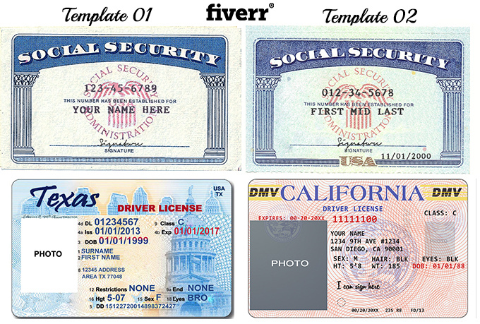 Texas drivers license template the free website templates within california id card template bing images maxwellsz