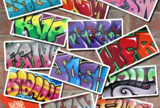 how to make my name in graffiti