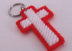 send 1 handcrafted red and white cross key ring to your US address