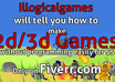 tell you how to make 2d/3d game without programming easily small1