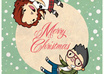 create an awesome christmas postcard with a character you like