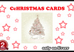 design a custtom nice looking CHRISTMAS card and sent it to any one{extra}