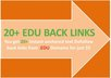 manually create 15 .EDU anchored permanent backlinks for your website on high pr site with detail report