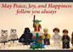 make this awesome personalized christmas holiday greeting video e card, featuring Lego Star Wars stop motion animation and your message small1