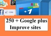 do real human 250 google plus within 2 days and let exposure maximize to your site