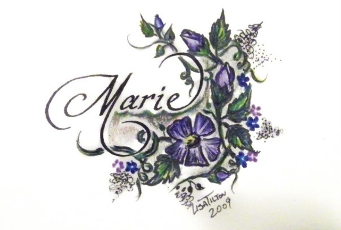 Calligraphy your name with floral design fiverr