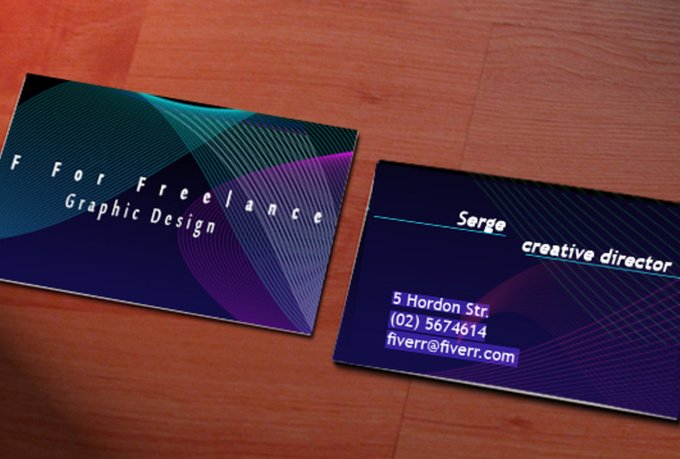 design a unique double sided  business card