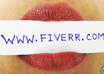 hold your company or website name with my lips