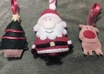send you any two of these handmade felt Christmas ornaments small1
