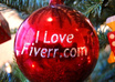 put your text on two Real 3D Christmas Tree Balls professionally in 24 Hours just