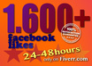 give you 1600+ facebook likes for your facebook fan page