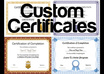 create a CERTIFICATE of your choice