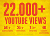give you 22000+ youtube views,Buy 2 gigs and get 1 FREE, 40 Custom Comments, etc