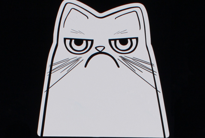 make you a die cut vinyl grumpy cat decal for your car window, laptop, notebook or most any other surface