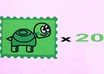 send 20 extremely happy little turtle stickers small1