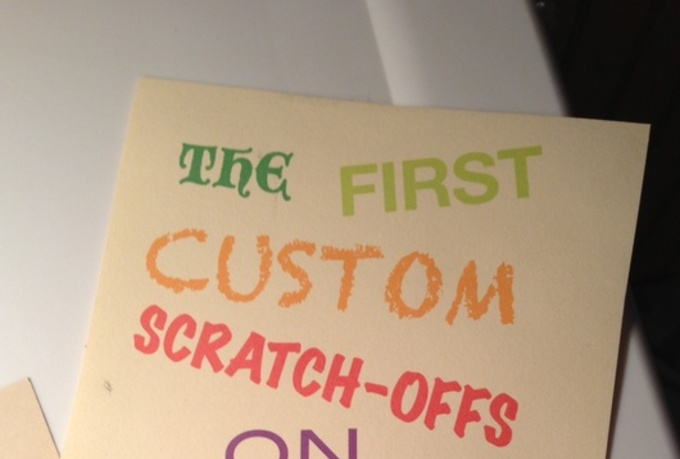 design and send to you three custom scratch off cards with your message