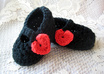 crochet these baby Mary Jane shoes small1