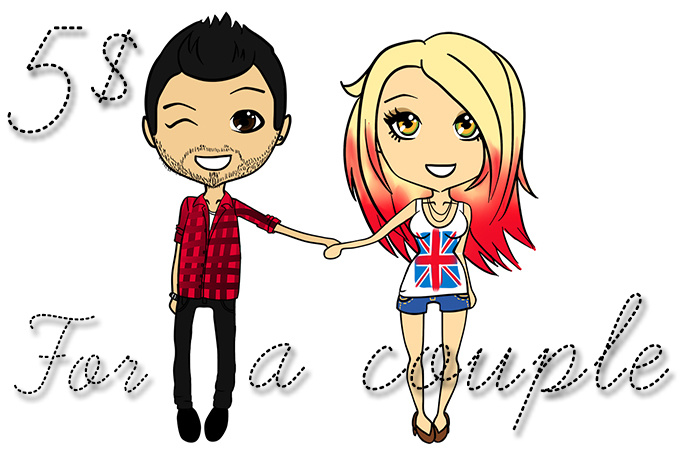 draw a cute valentine CHIBI couple for you