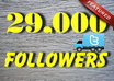 add 29000+ TWITTER followers to your account no need password quickly in 24 hrs
