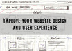 analize your website and design and give you tips how to improve it and your user experience