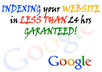index your web site in less than 24hrs