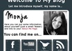 create an outstanding eye catching About Me Box for your Blog with clickable Social Media Buttons