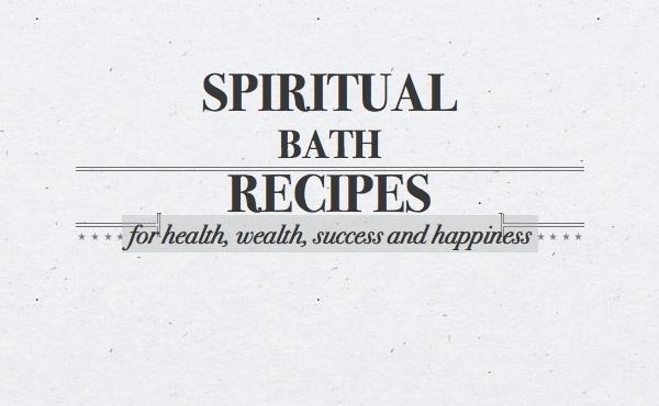 give you seven spiritual bath recipes for excellent health