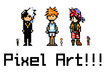 create a pixel art character