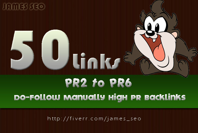 give you 50 links high PR just