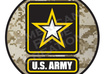 ship you this American Made Army 2 Circle Magnetic to Proudly Display