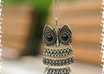 send you a bronze vintage owl necklace
