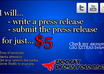 write and distribute a press release for backlinks, media, links and more small1