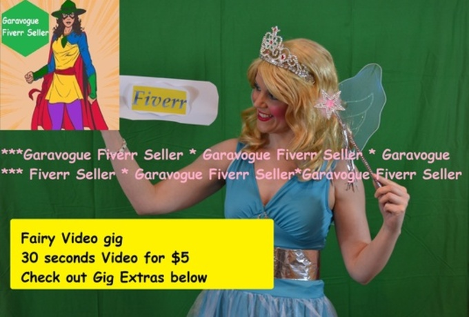 create a video as a Fairy, Fairy Princess or Fairy Godmother