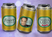add your image or logo in a beer can image