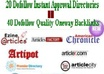 manually submit Your Articles to 20 DoFollow Instant Approval Article Directories