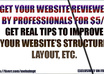 review your site and will give you 5 suggestions