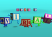 make your message in animated dancing blocks small1