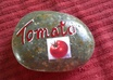 paint a TOMATO Vegetable Garden Rock Marker